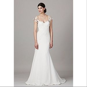 Lela Rose the farm silk French lace wedding gown